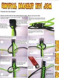 Paracord bracelet instructions to weave a paracord bracelet