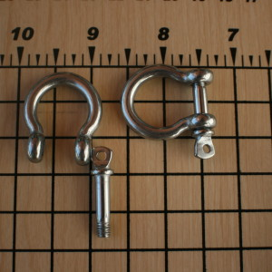 Bow Tie screw pin shackles for paracord bracelets