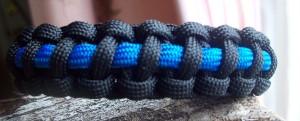 Thin Blue line paracord bracelet;police bracelet;blue line bracelet
