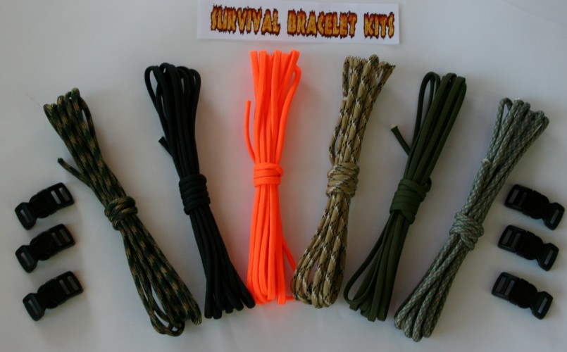 Survival bracelet kit;Paracord supplies;paracord bracelet instructions; recon 60