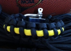 NFL colors paracord bracelet pittsburgh steelers