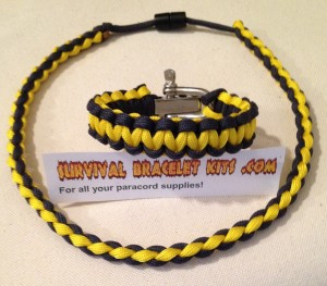 Michigan football paracord;wolverine paracord bracelet;wolverine necklace;