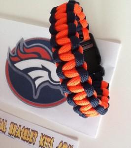 denver broncos paracord bracelet;