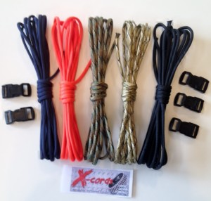 Denver Broncos colors survival bracelet kit