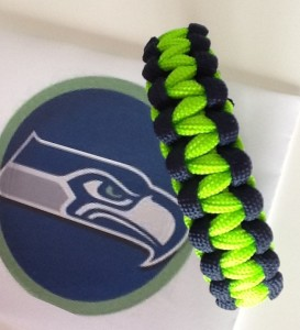 seattle seahawks survival bracelet