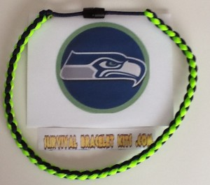 seahawks paracord necklace