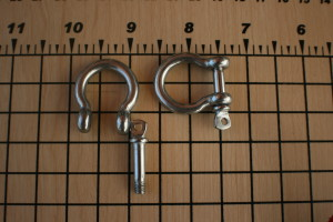 Bow Tie Stainless Steel Shackles