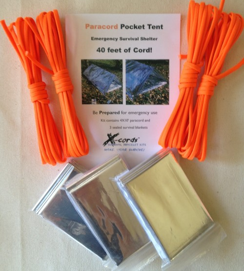 Paracord Pocket Tent Emergency Shelter Kit