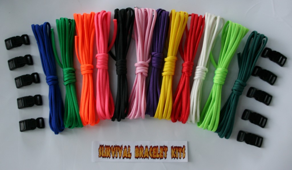 Recon Rainbow 120 Survival Bracelet Kit