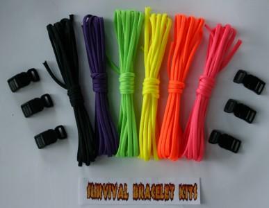 Recon Rainbow 60 paracord bracelet kit
