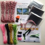 Pink Camo Paracord Survival Kit set
