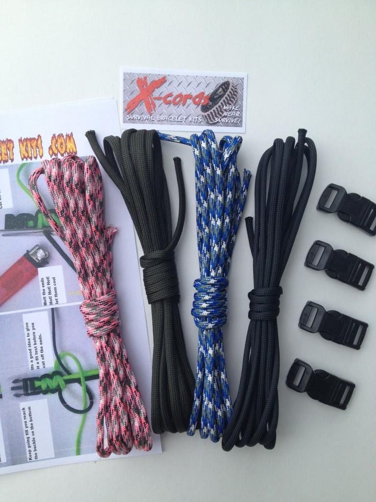 Facebook Fans Only Survival Bracelet Kit Limited Time Only