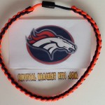 Denver Broncos colors Paracord Necklace