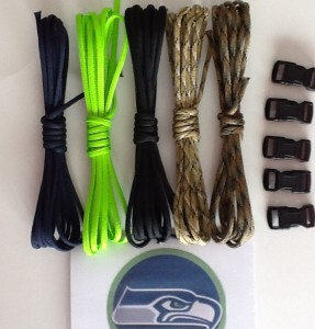 Seattle Seahawks Colors Paracord Bracelet Kit