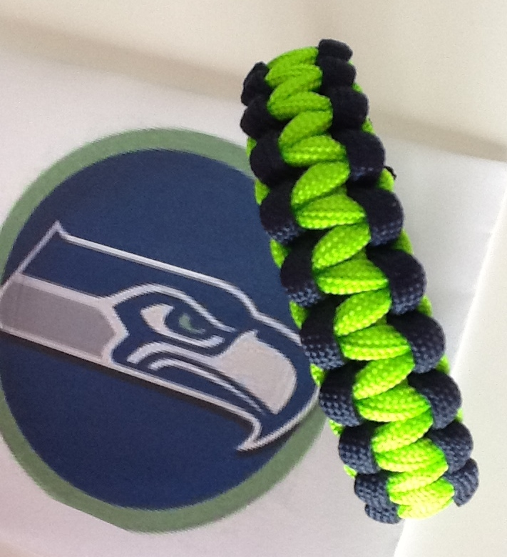 Seattle Seahawks Super Bowl Paracord Bracelet
