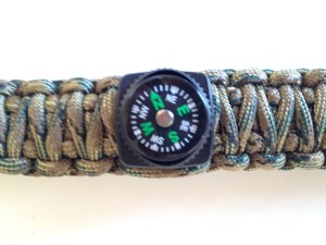 survival bracelet with compass