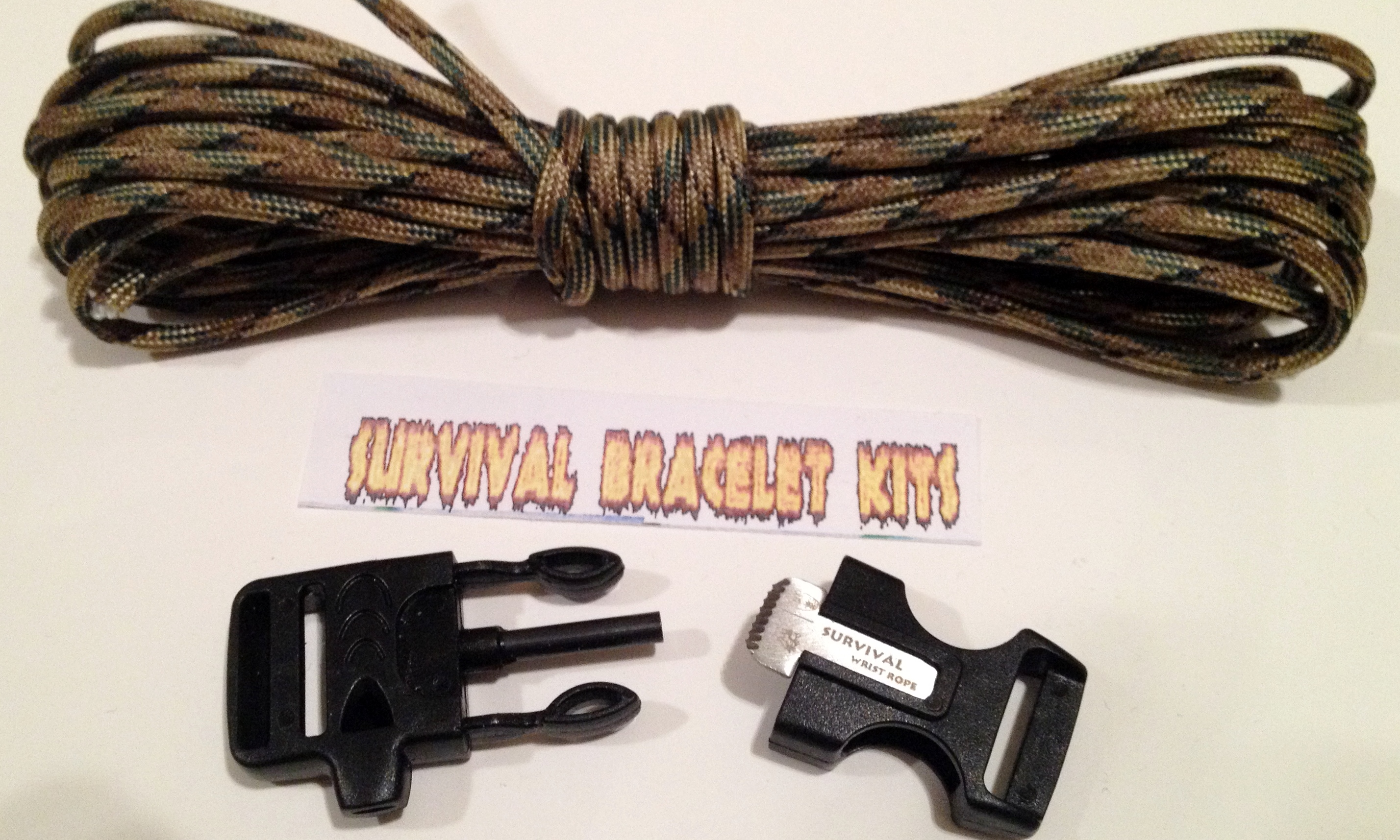 flint buckle paracord kit