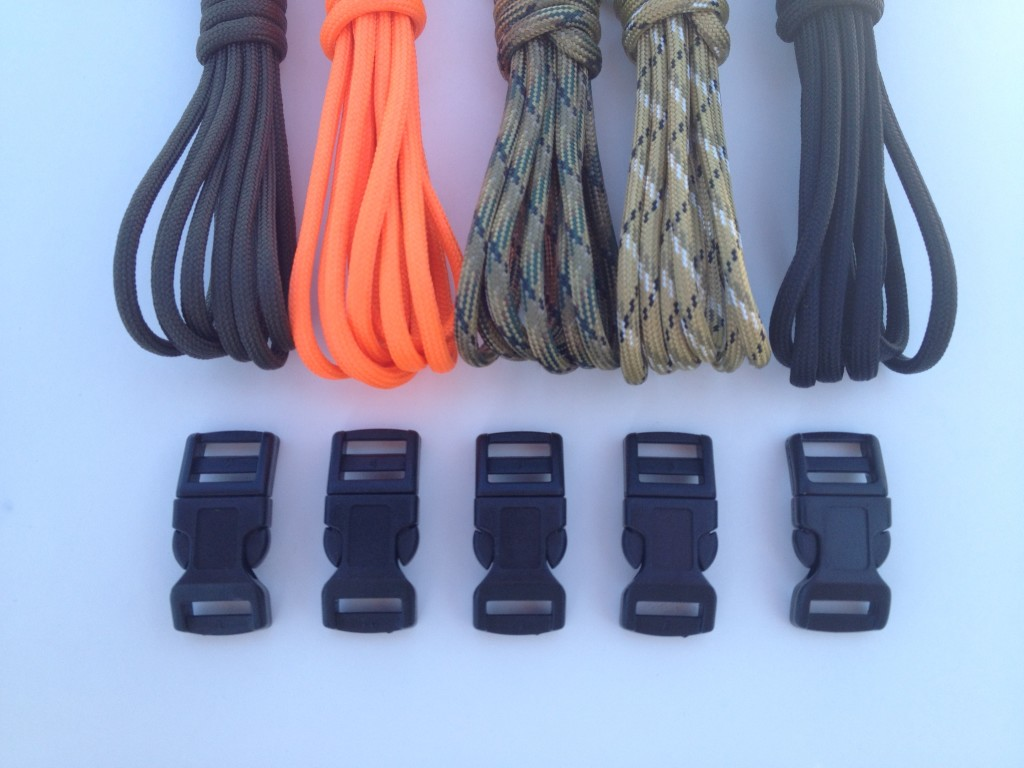 X Cords Paracord 850 Survival Bracelet Kit Makes 5 850