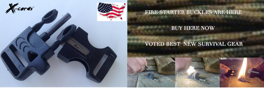 fire starter whistle buckle
