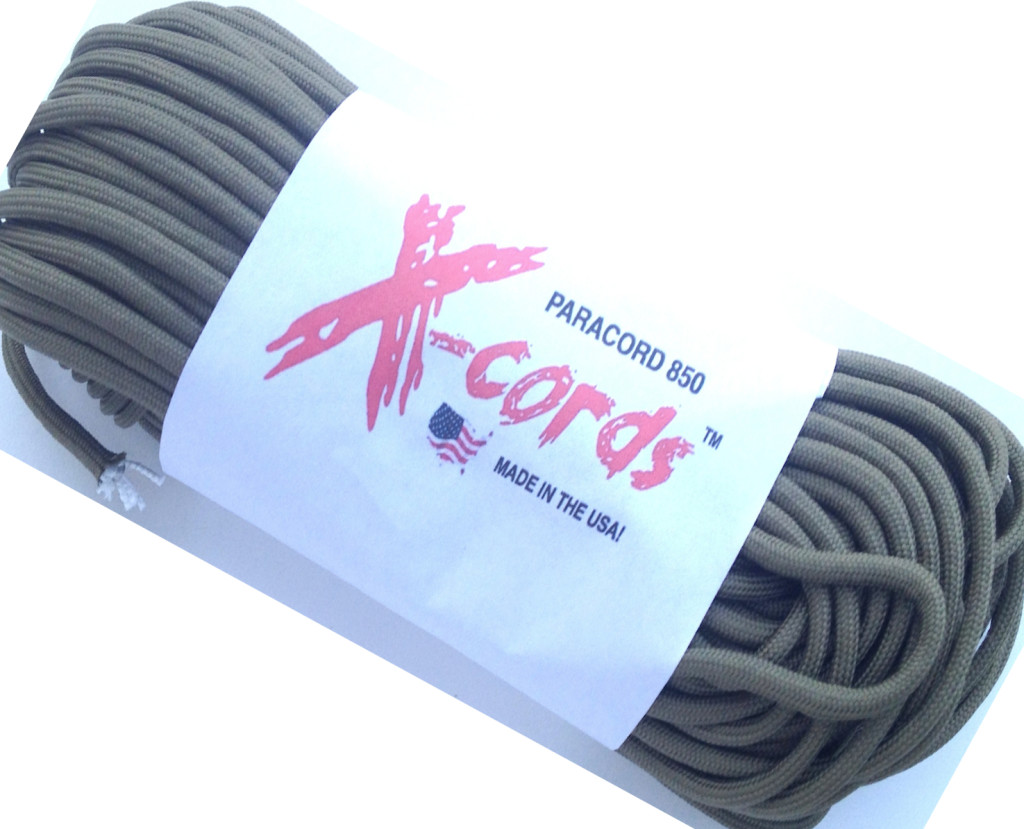coyote brown 850 paracord front new