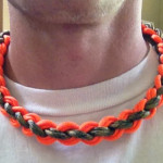 paracord 850 double wide necklace neck