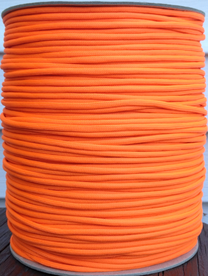 paracord 850 orange 1000' spool